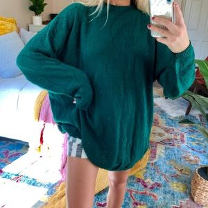 Sweaters - forest oversized mock-neck knit